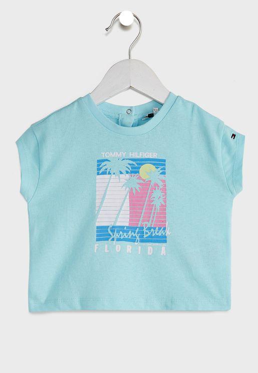 Kids Vintage Palm Print T-Shirt