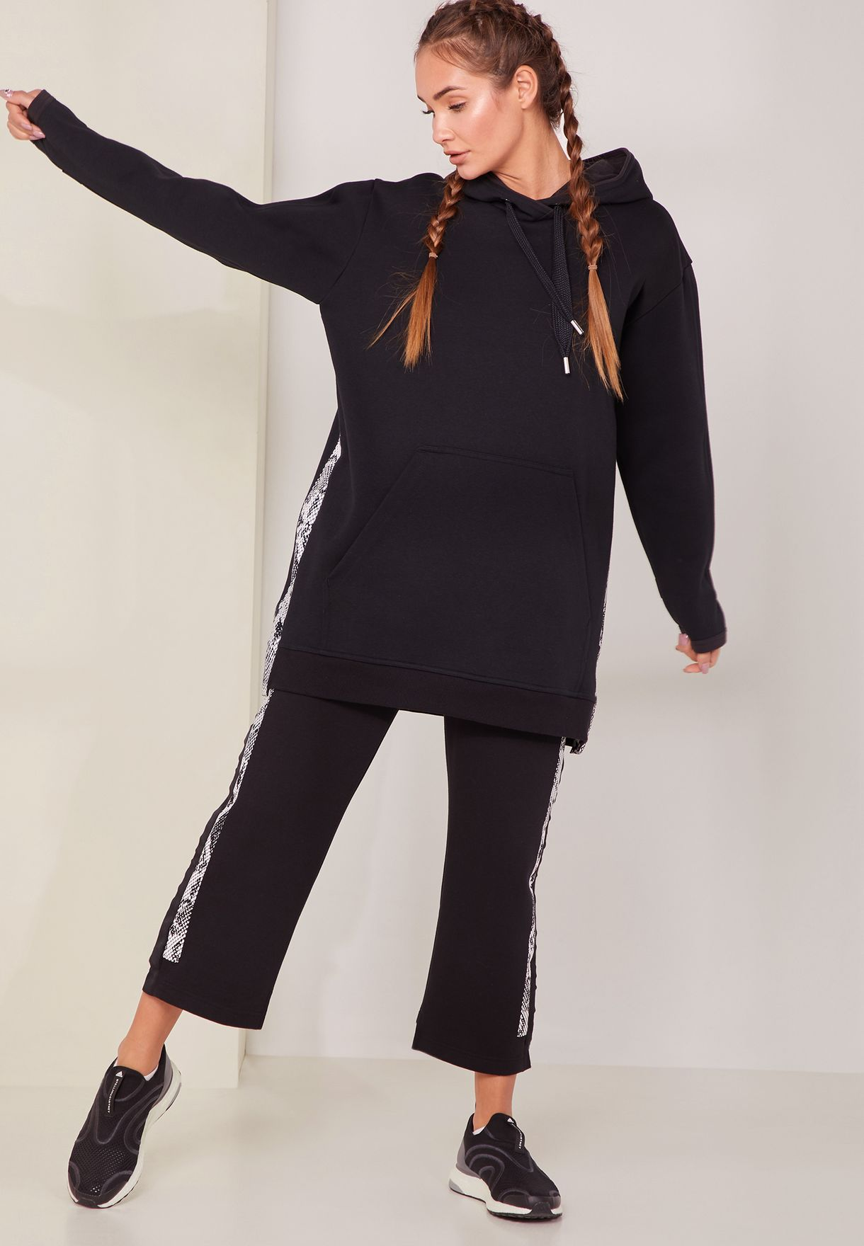 a19a106c3aa0 Shop adidas by Stella McCartney black Cropped Sweatpants DT9224 for ...