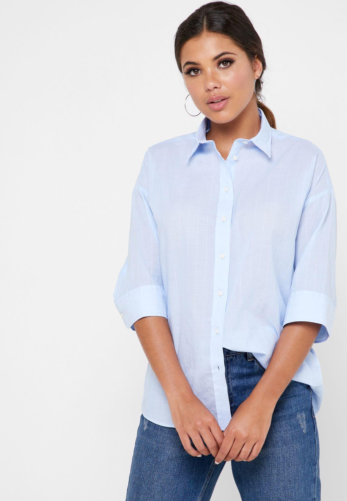 Button Down Striped Shirt