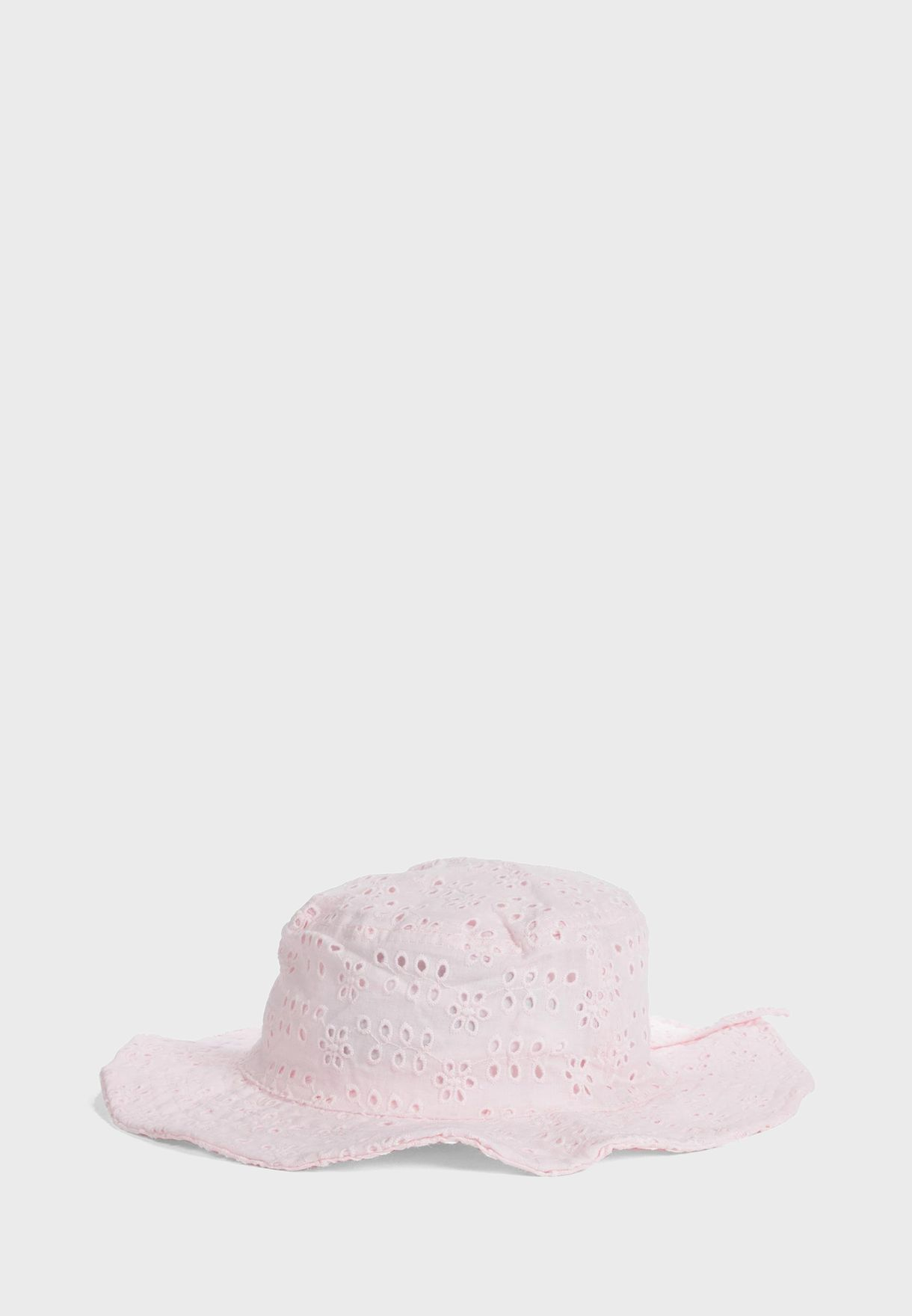 Kids Lace Detail Bucket Hat