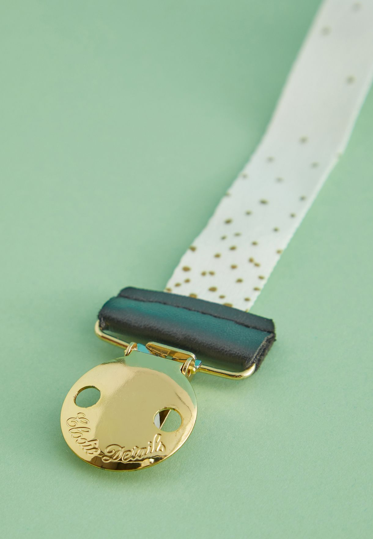Pacifier Clip - Gold Shimmer
