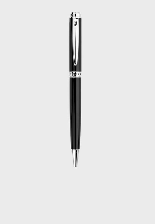 Police Hobo Black Pen With Stainless Steel Plating