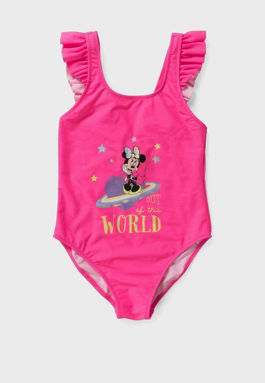Kids Minnie Mouse Swimsuit