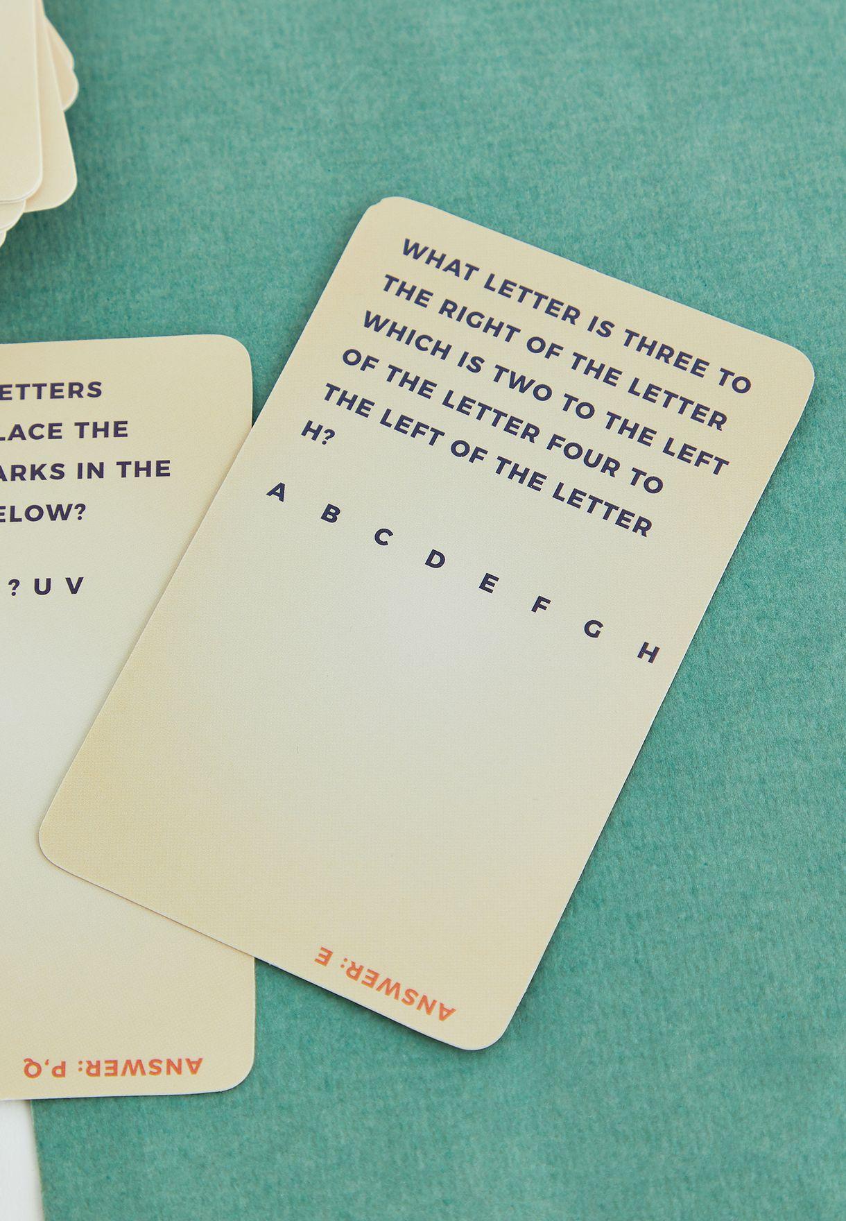 بطاقات اسئلة لتعزيز الدماغ