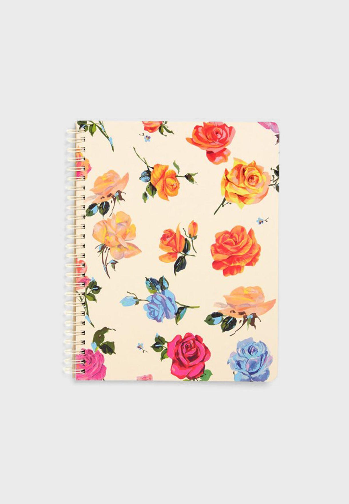 دفتر ملاحظات ميني مزين بالازهار