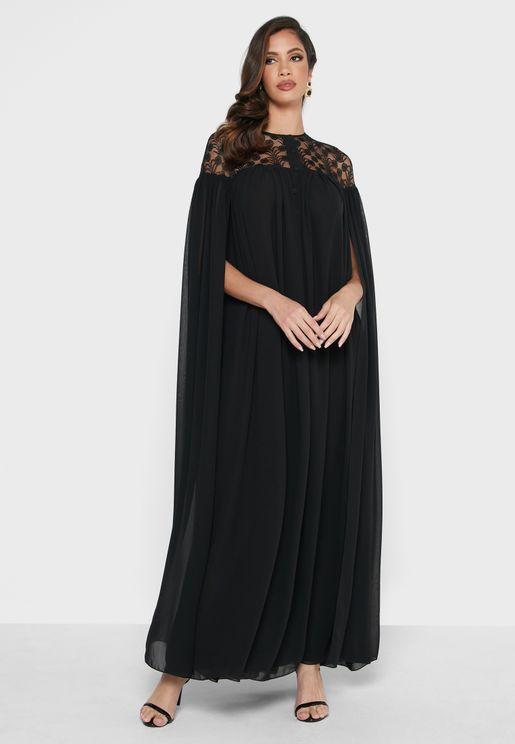 فستان بتداخل شبك