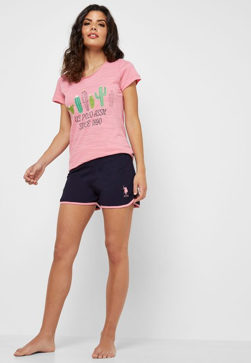 Logo T-Shirt & Shorts Set