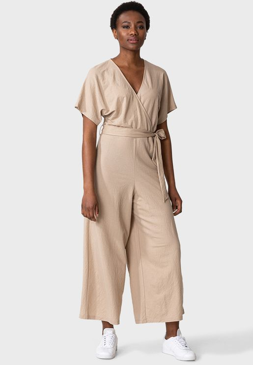 Knitted Wrap Jumpsuit