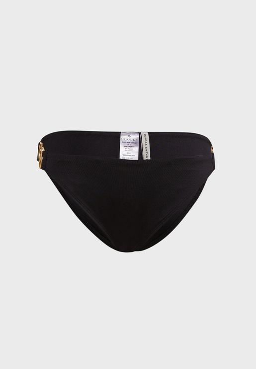 Gold Clasp Bikini Bottom