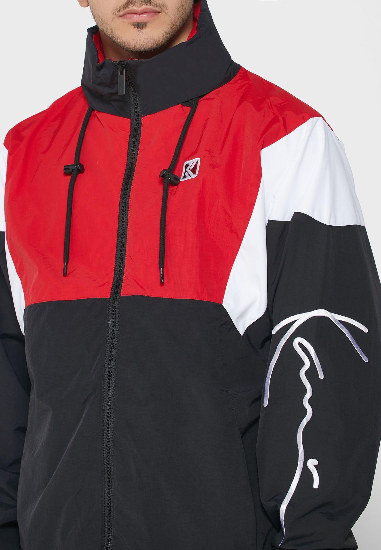 Retro Colour Block Track Jacket