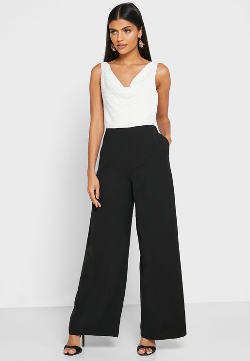 Kieva Cowl Neck Wide Leg Jumpsuit