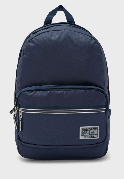 Front Zip Collage Backpack