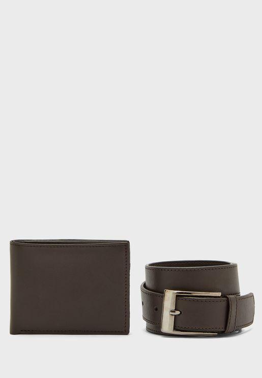 Wallet & Belt Gift Set