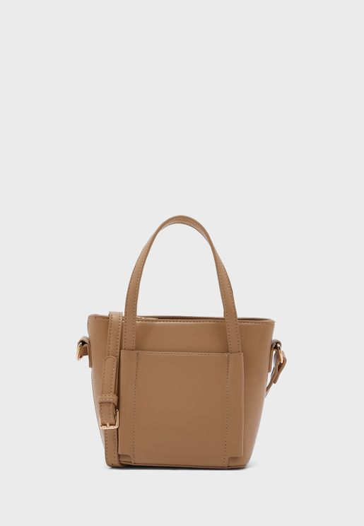 Small Tote Bag With Front Pocket