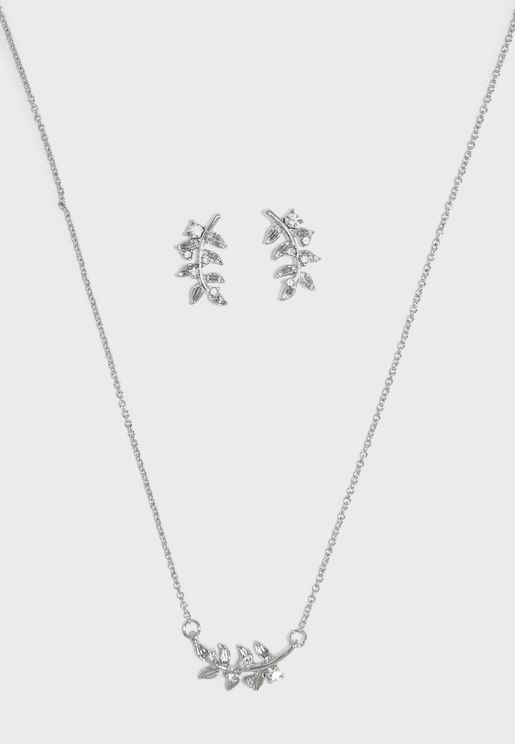 Cabrela Necklace + earrings set