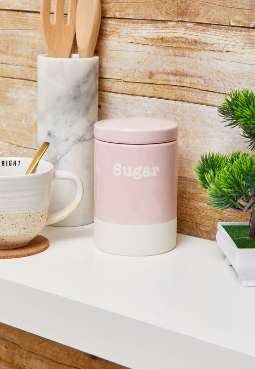 Stoneware Sugar Canister