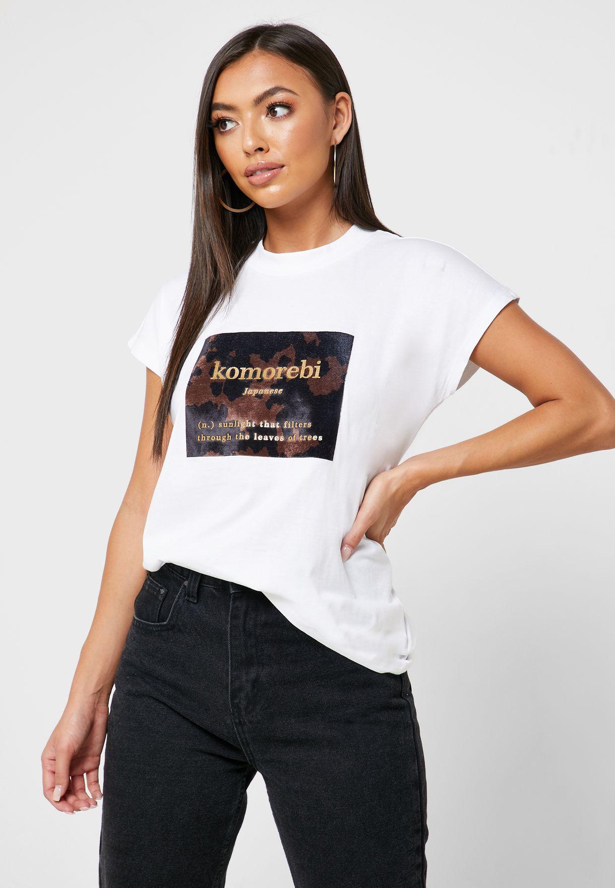 Crew Neck Graphic T-Shirt