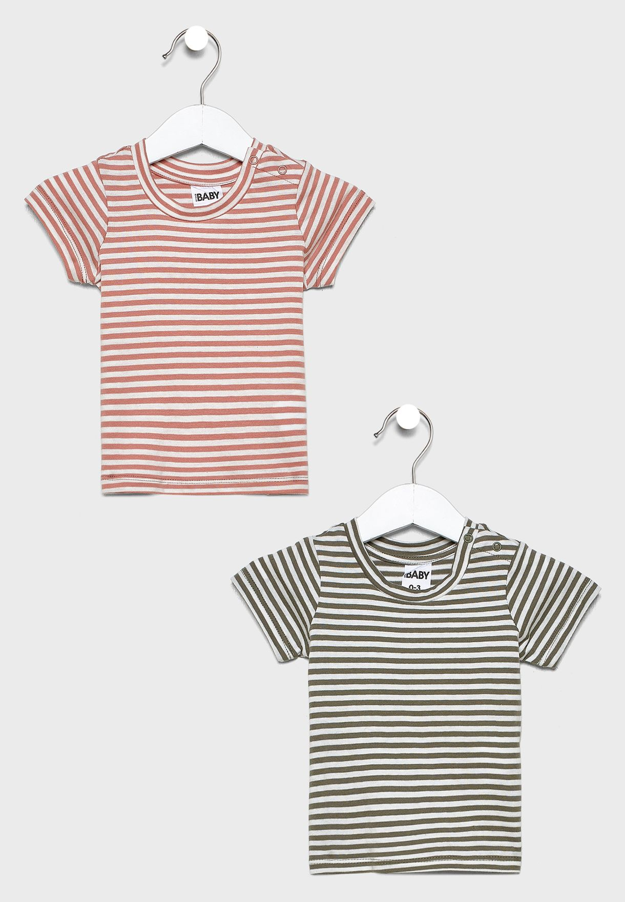 Infant 2 Pack Striped T-Shirt