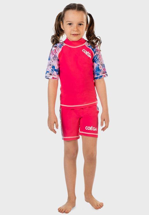 Kids Rainforest Print Swim Set