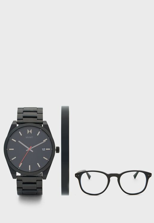 طقم ( ساعة + سوار + نظارة شمسية)