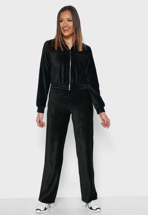 Bomber Jacket Pants Set