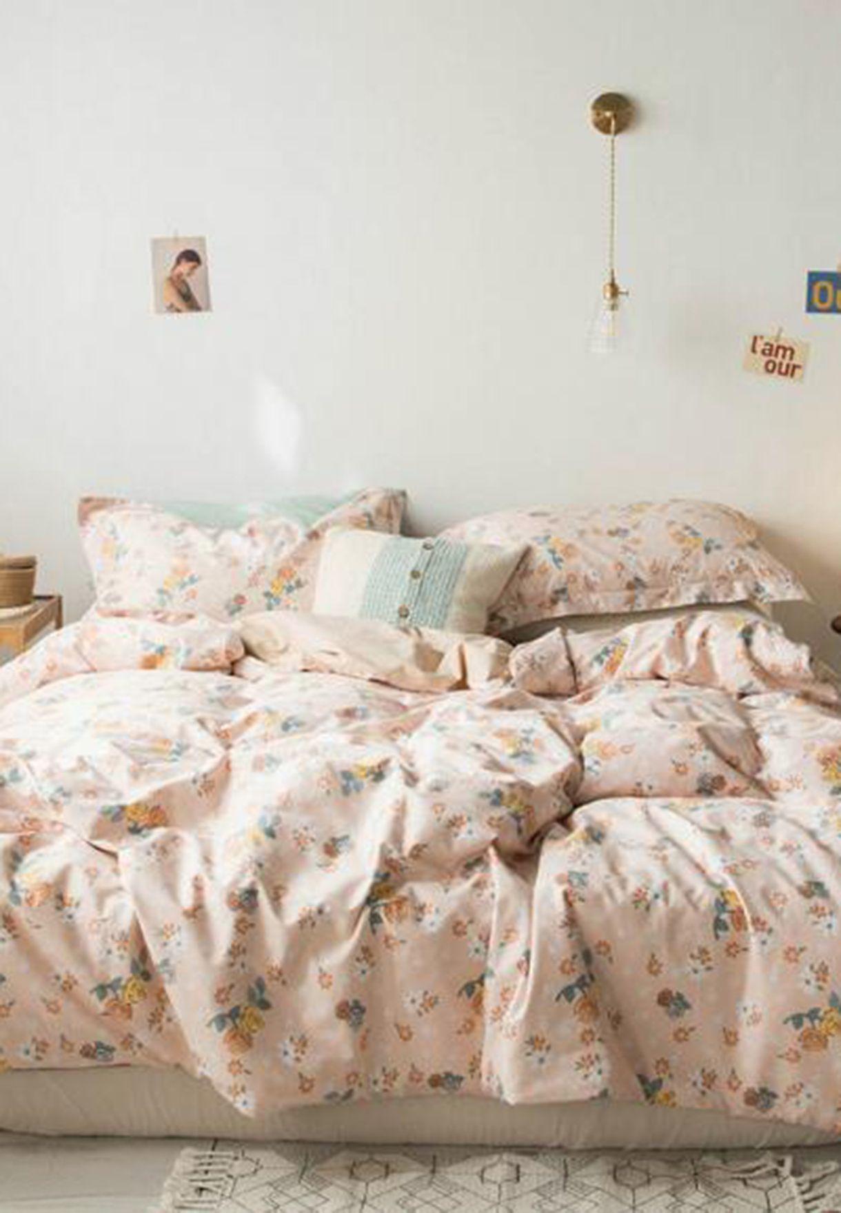 Floral Printed Bedding Set - King 200 x 230cm