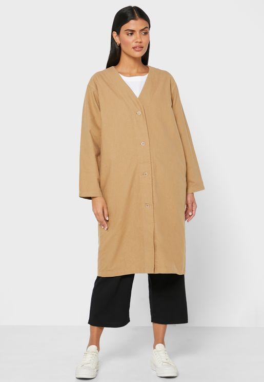Button Down Longline Coat
