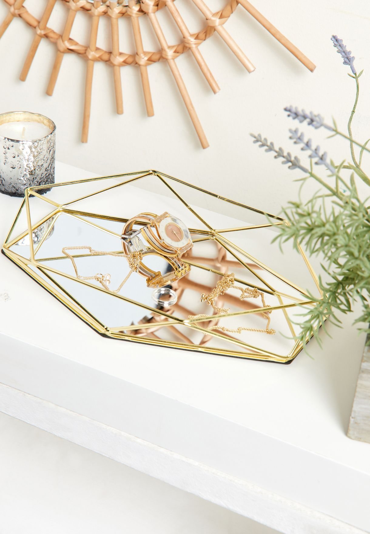 Gold Glass Display Tray