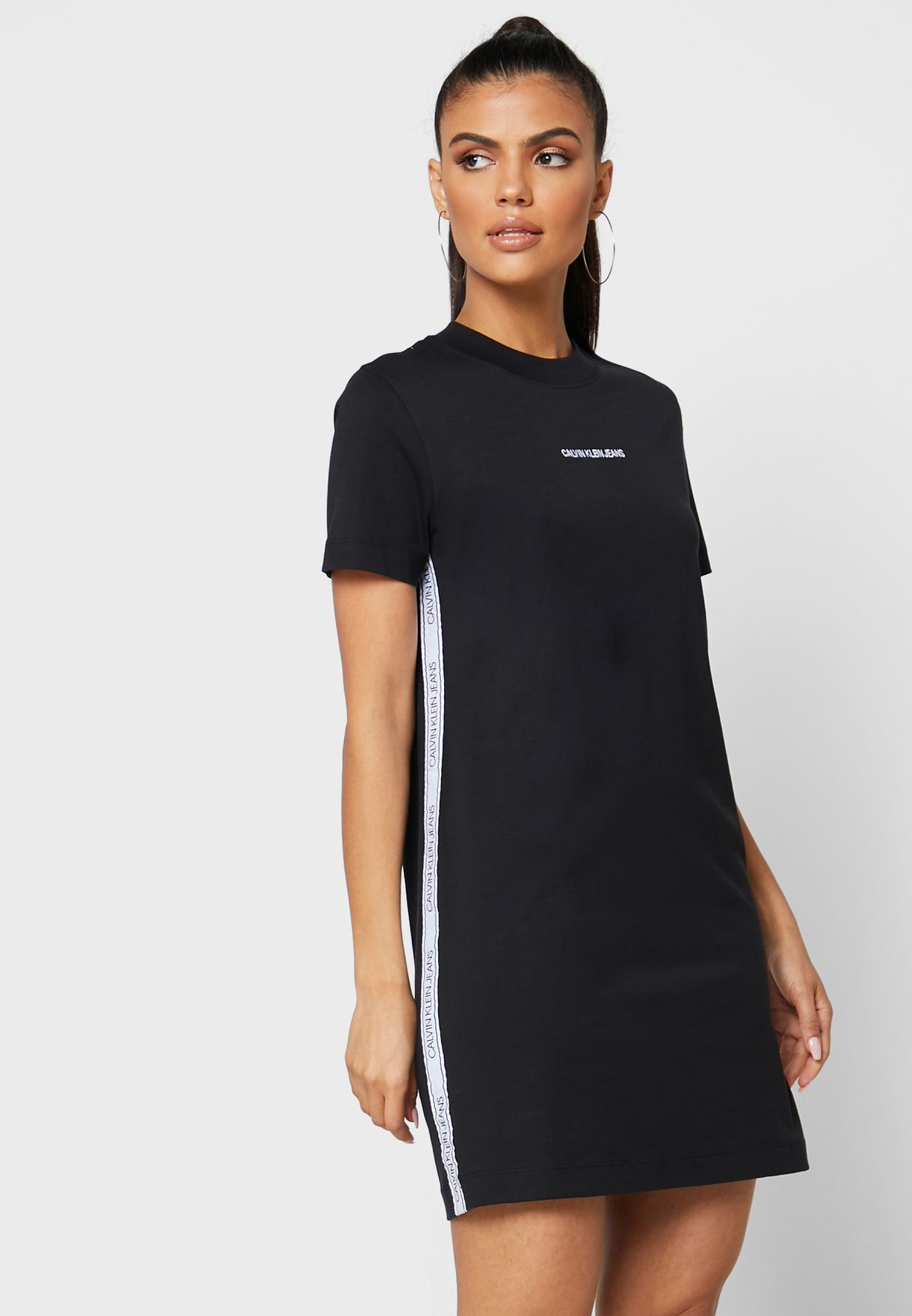 Mesh Tape T-Shirt Dress