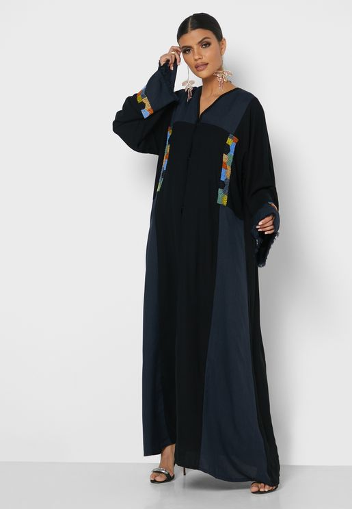 Cuffed Sleeves Abaya
