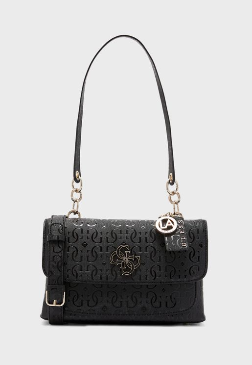 Chic Shine Flap Over Crossbody