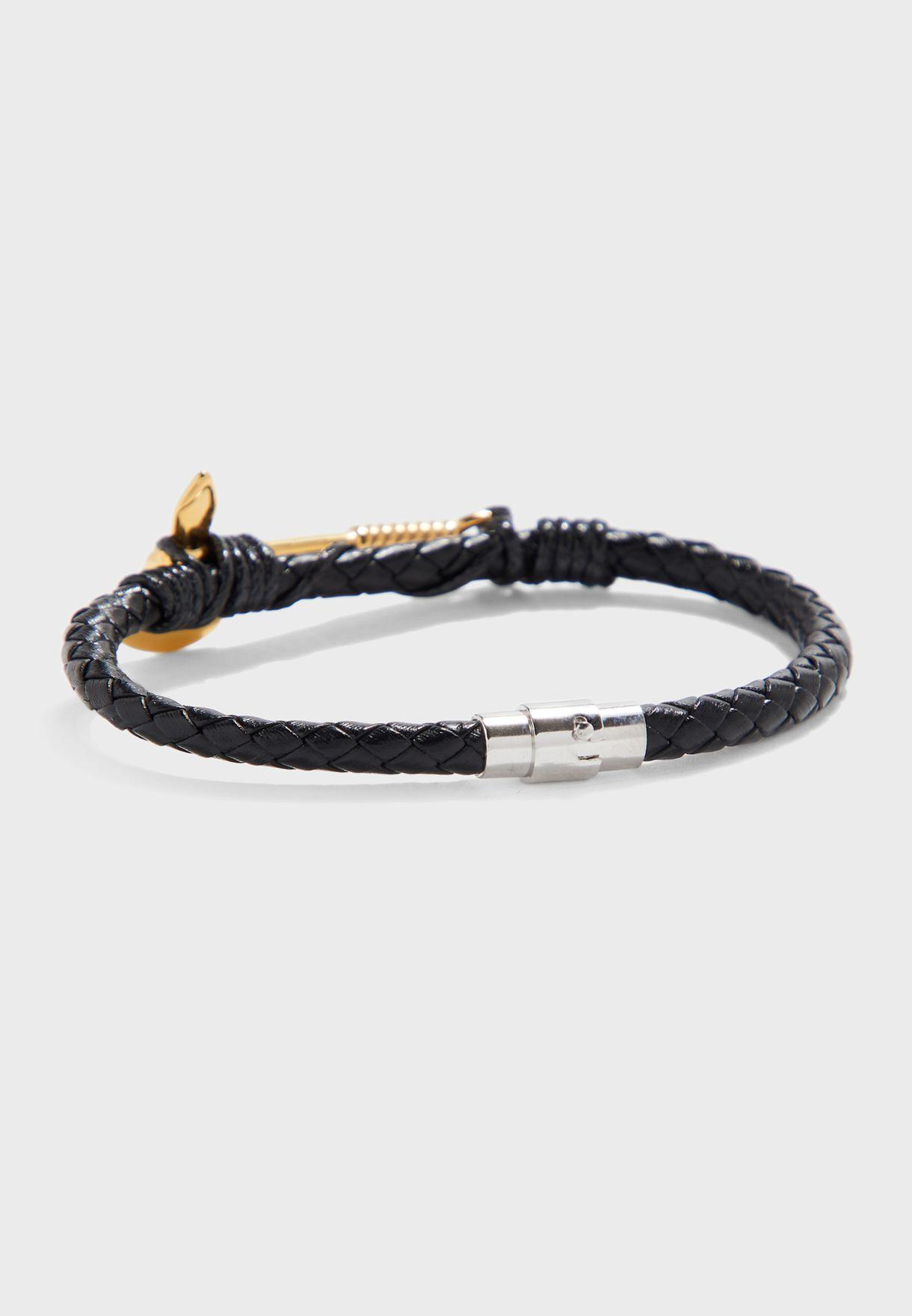 Braided Axe Detail Bracelet