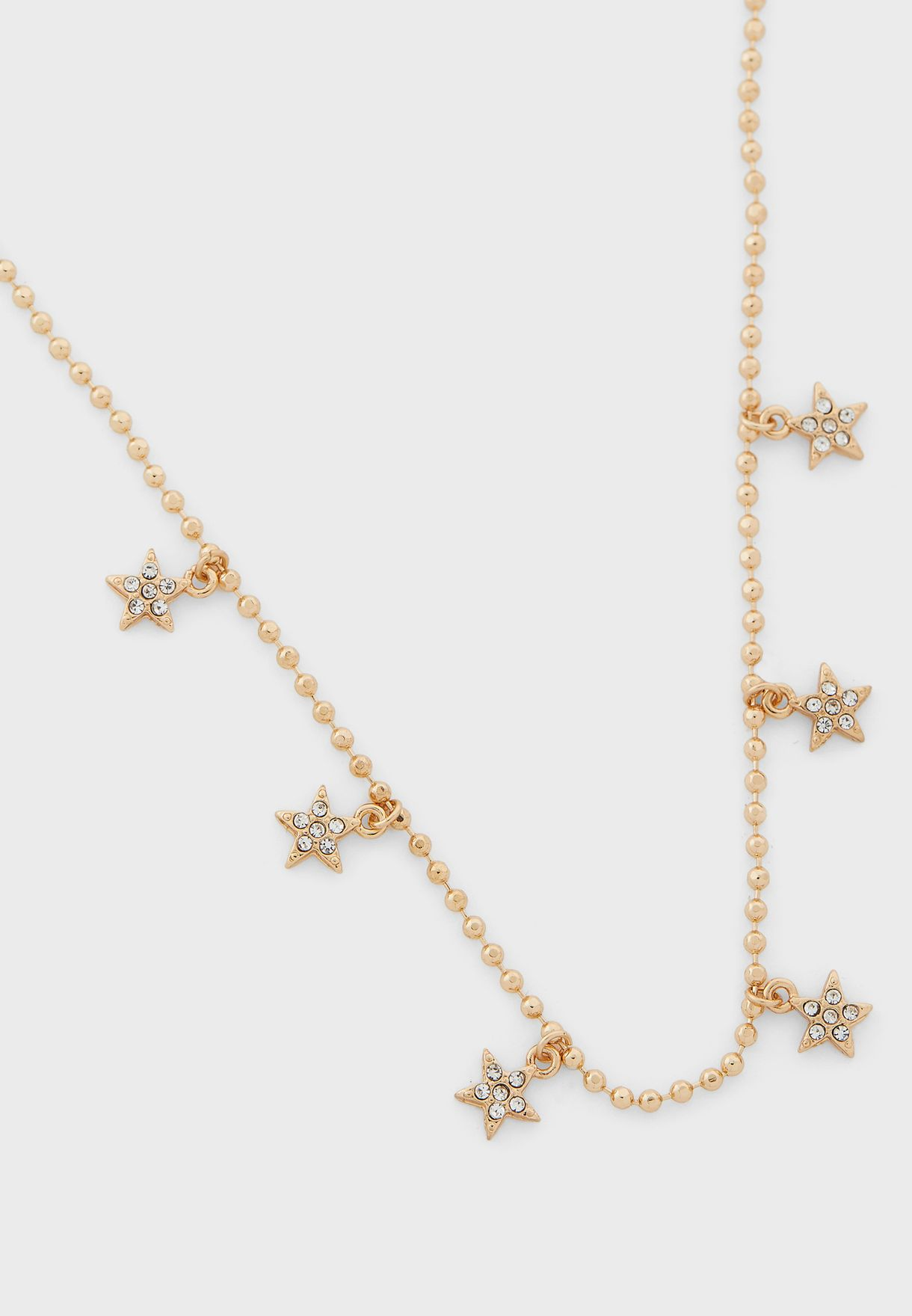 Double Layer Star And Moon Necklace