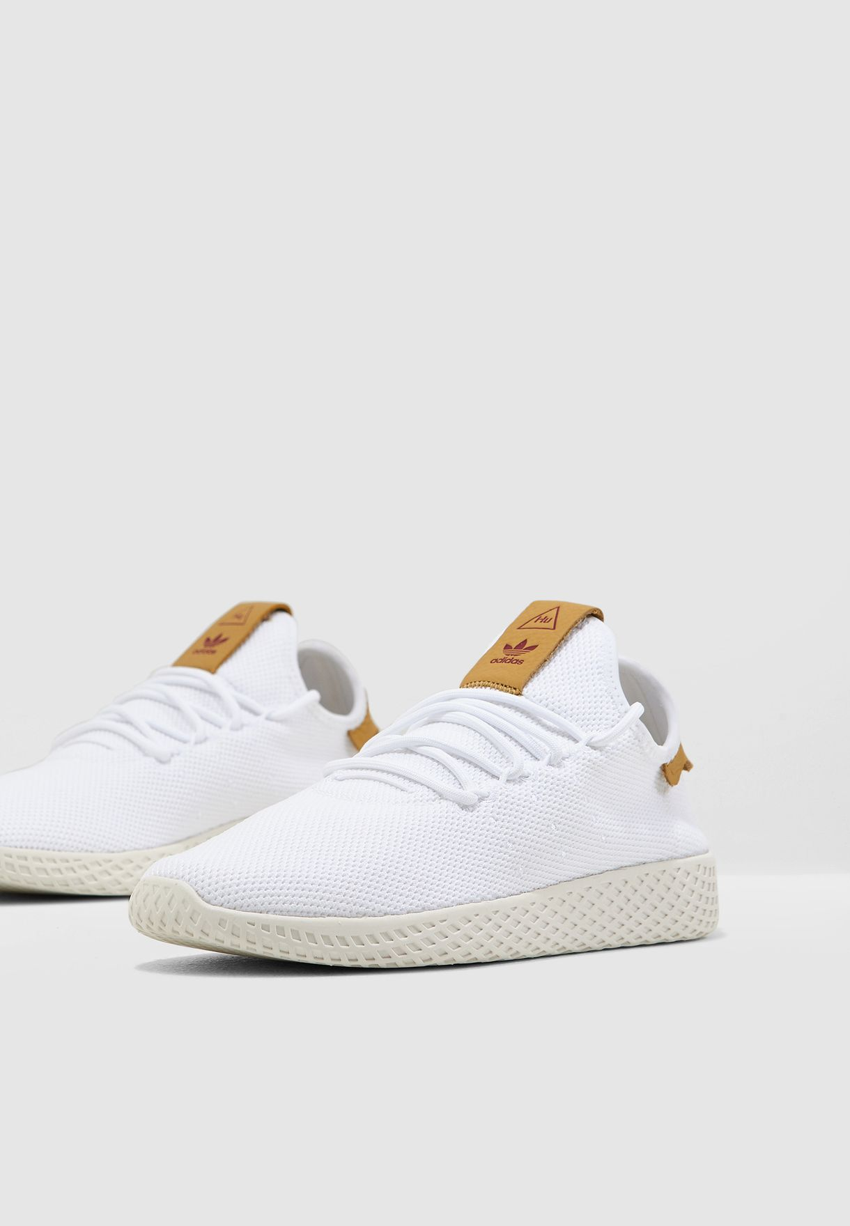 b72fea1b2abec Shop adidas Originals white Pharrell Williams Tennis HU D96444 for ...