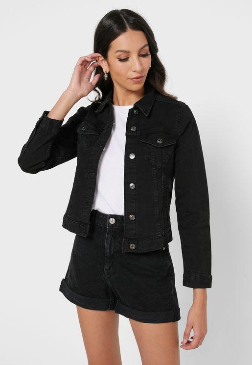 Denim Button Down Jacket