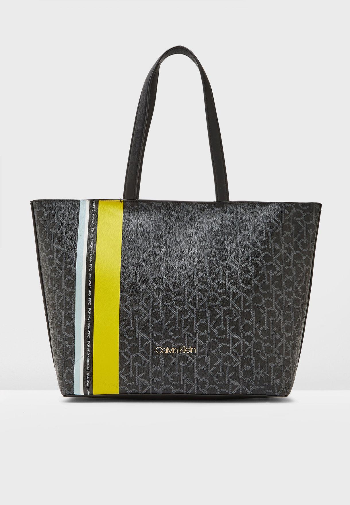 db594ef4885 Shop Calvin Klein black Monogram Shopper K60K605083 for Women in ...