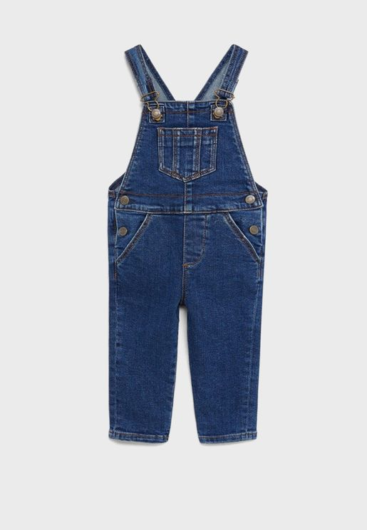 Kids Pocket Detail Denim Dungaree