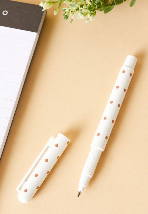 قلم حبر جاف طبعة نقاط بولكا