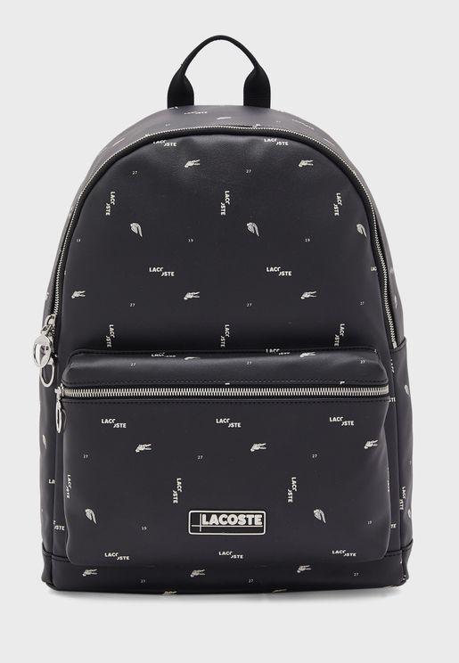 Logo Printed Backpack