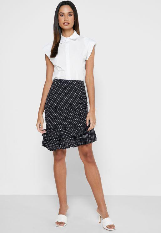 Ruffle Detailed Skirt