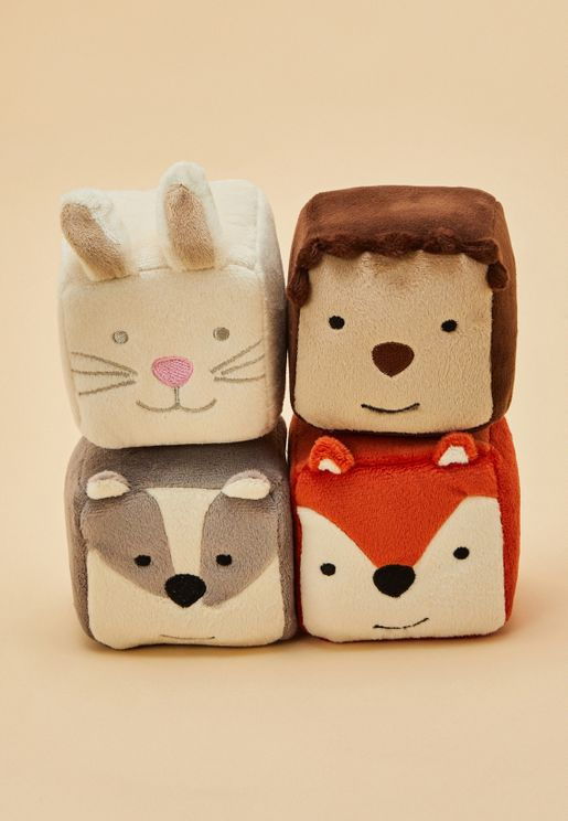 4-Pack Soft Woodland Cubes