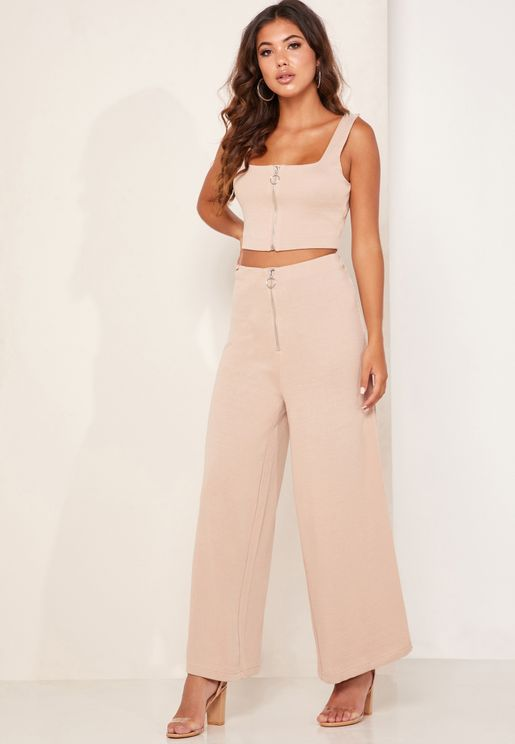 New To This Zip Detail Pants