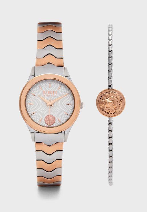 Mt Plsnt Combo Bracelet Watch