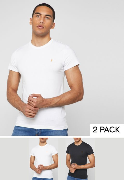 2 Pack Essential Crew Neck T-Shirt