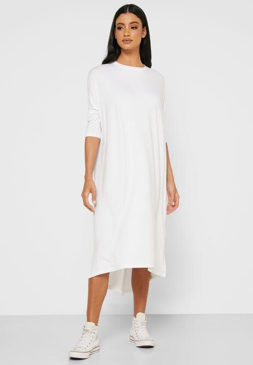 Oversized T-Shirt Midi Dress