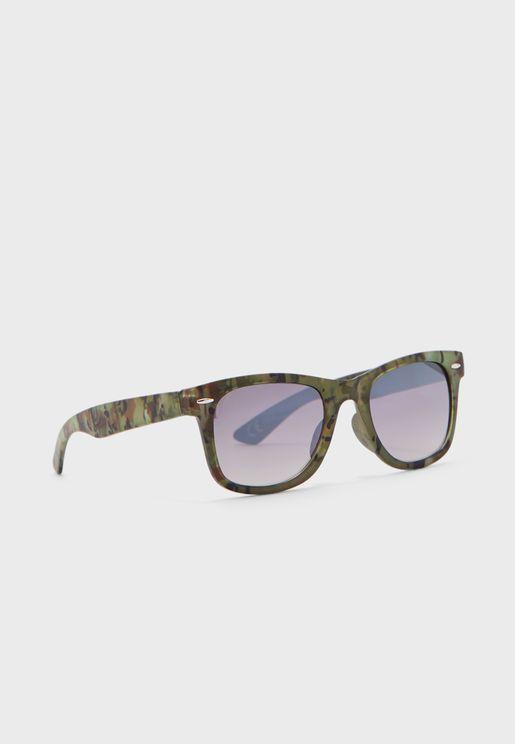نظارة شمسية مطبعة بعدسات مظللة