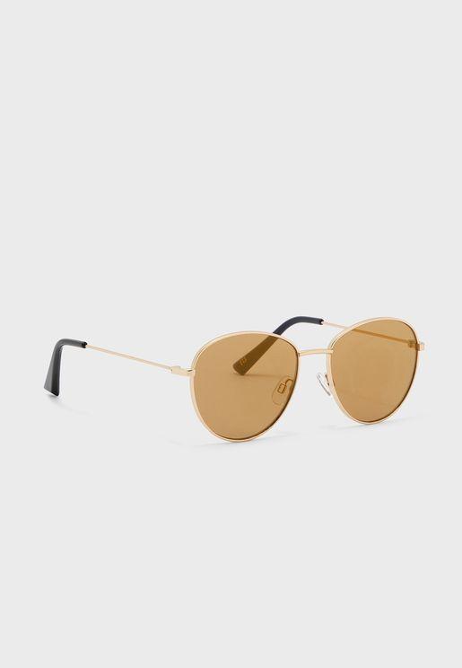 Lens Drop Round Sunglasses