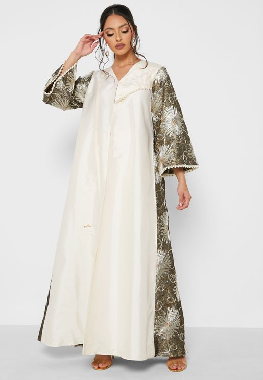 فستان جلابية بطبعات