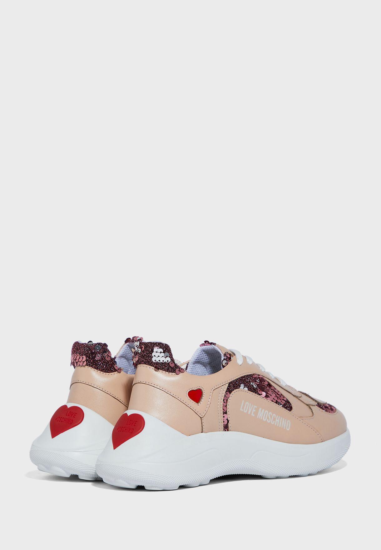 Sequin Detail Sneaker - Fantasy