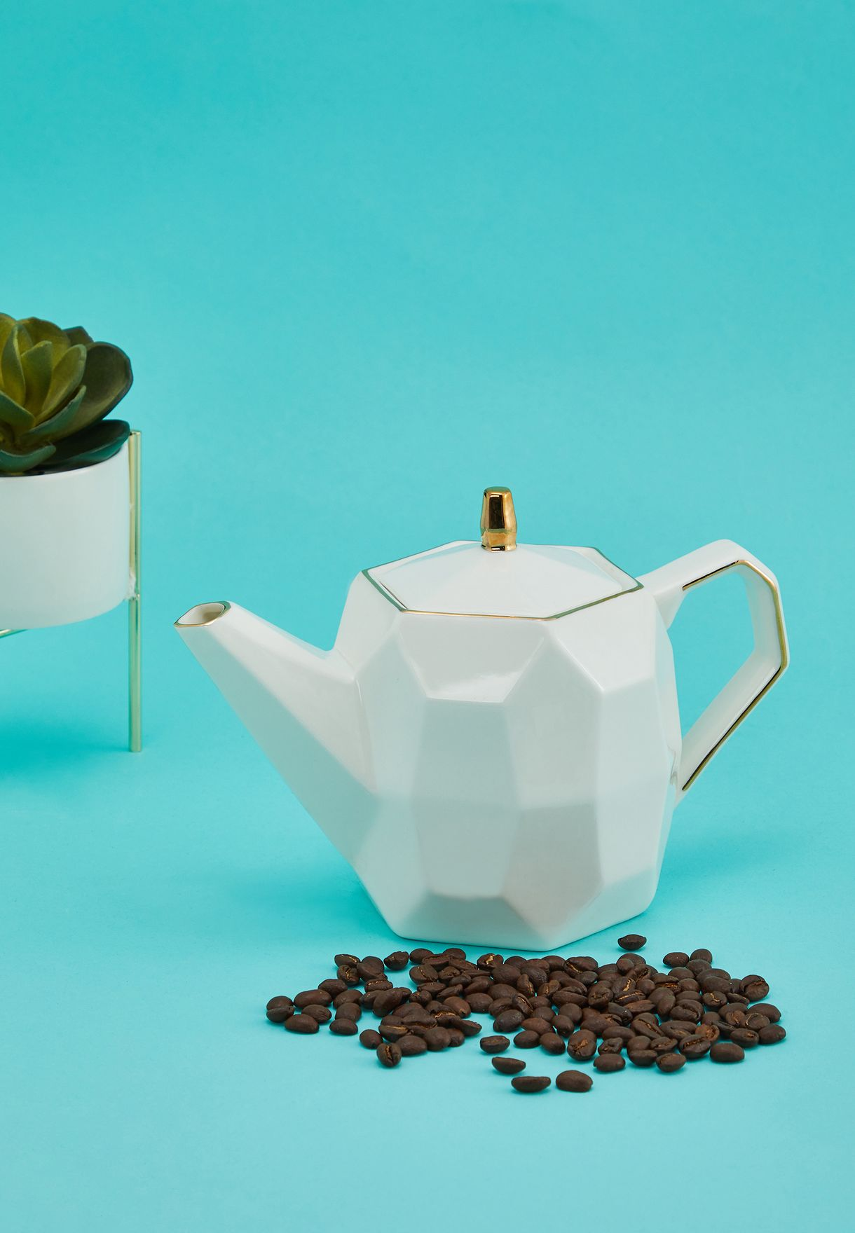 Faceted Teapot